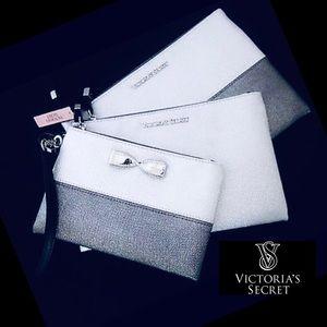 Victoria Secret Silver Metallic Cosmetic Wristlets